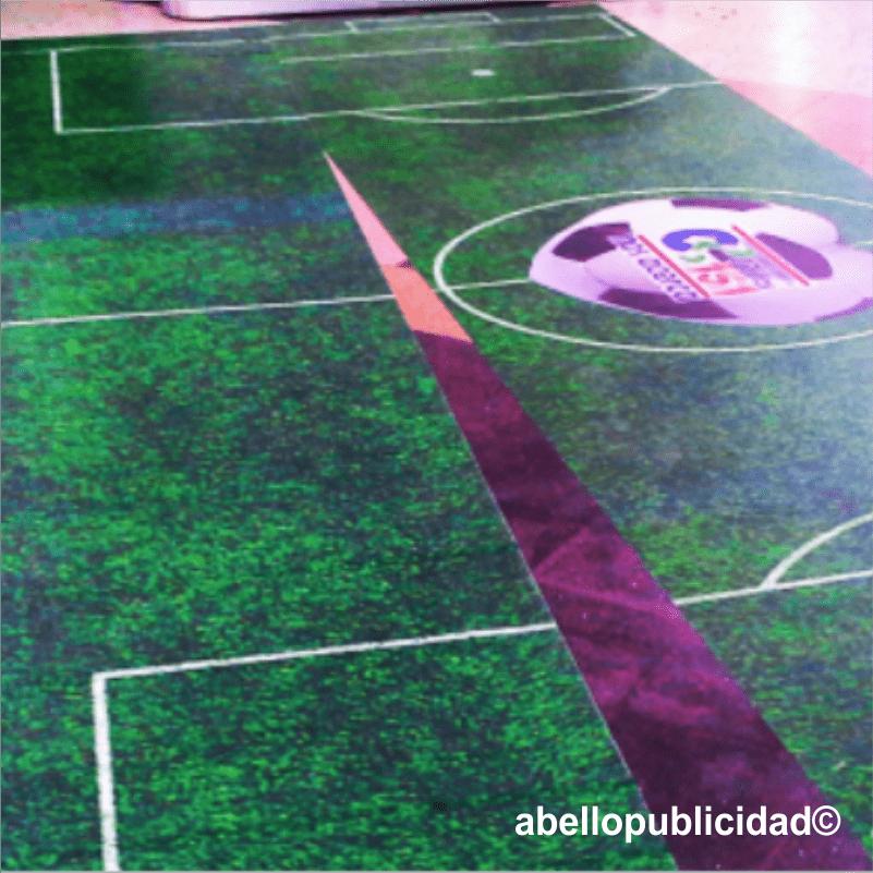 Abello publicidad branding Floor graphic-min